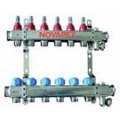 "PRET SPECIAL   Distribuitor - Colector 1""x3/4"" cu 6 circuite Inox"