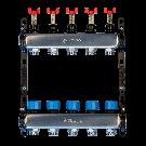 "Distribuitor-colector metalic SISTEMA 1""x3/4"" cu debitmetre 4 circuite"